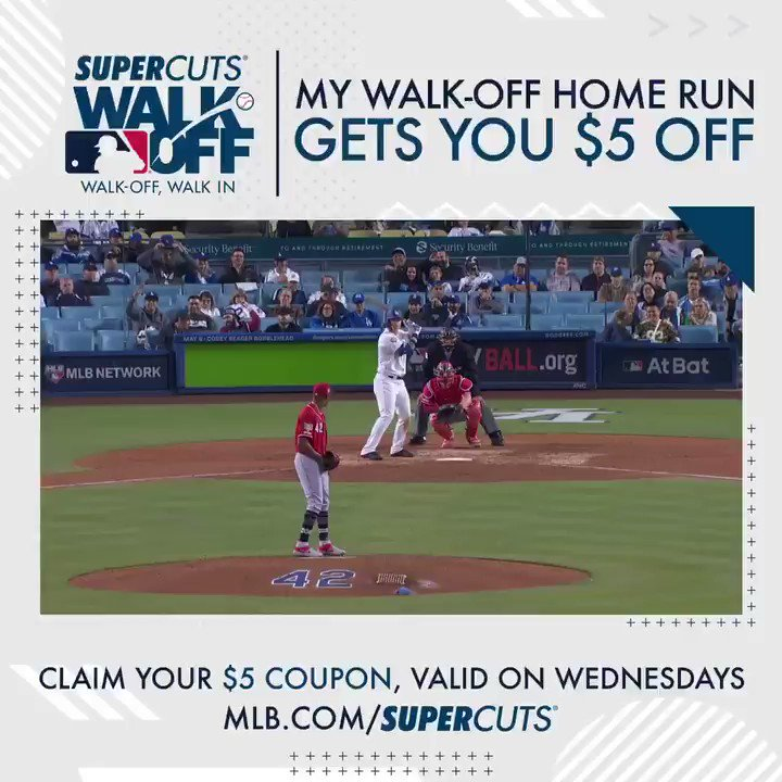 #ad Got that W and you can too. Get your $5 off coupon at @Supercuts MLB.com/Supercuts