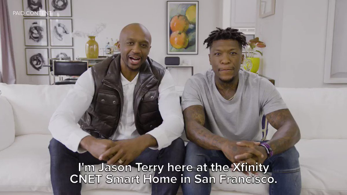 Got my DUNK on at the @Xfinity @CNET Smart Home w/ @jasonterry31 in a little NBA2K challenge. 🔥🔥 My boy ain't no match for me. 😂 😂 #sponsored https://cnet.co/2Z6i9jk