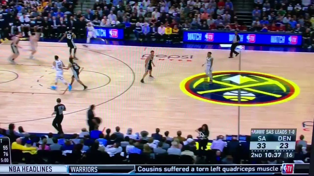 If u want to see the best way to defend Spain PnR, of course let's look at Spurs. Check what Poeltl does