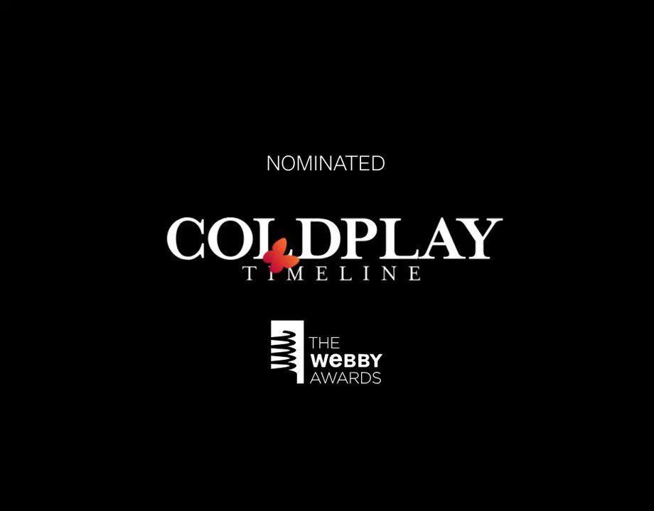 Voting closes tomorrow for this years @TheWebbyAwards, where the Coldplay Timeline is up for Best Music Website! You can vote for it to win at cldp.ly/webbys19 (big thanks to everyone who already has). A