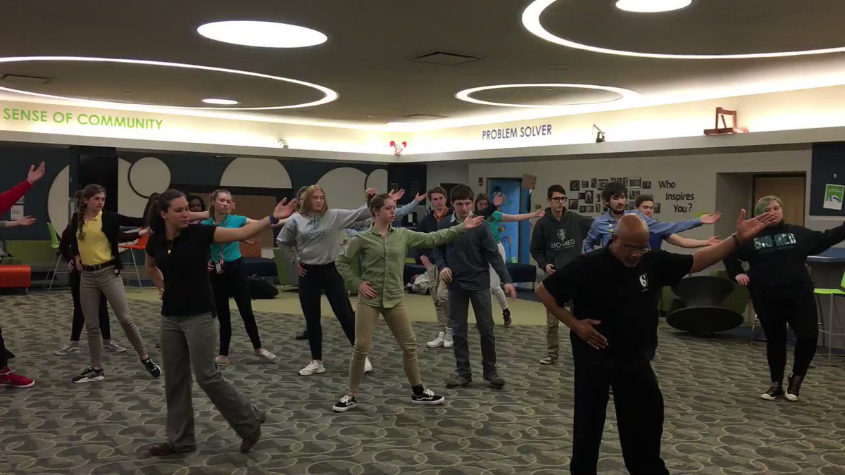 Juniors learned the first 8 movements of a Tai Chi form for Flex Time today! Thank you to Gary Harris of the Center for Mind-Body Harmony for donating his time to our students! #OurBMSA
