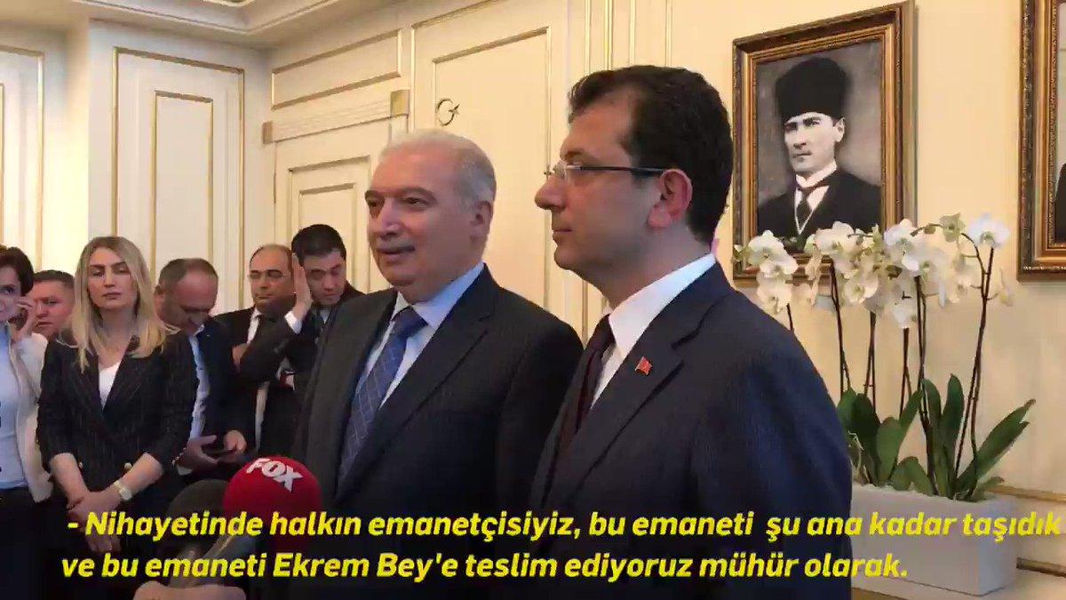 İstanbul Büyükşehir Belediye Başkanlığı 16 Milyonun emanetidir. Bu görevi layıkıyla yerine getirmek için çok çalışacağız. Şimdiye kadar bu şehre hizmet etmiş, katkısı olmuş tüm belediye başkanlarına teşekkürler.