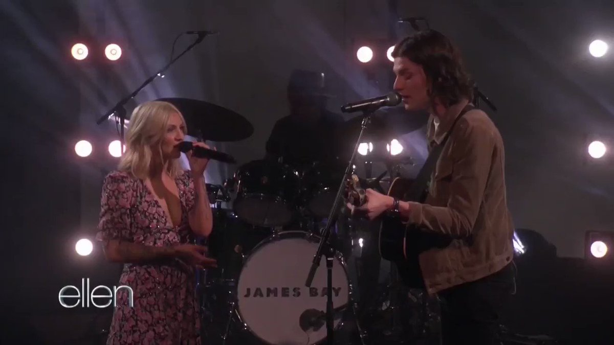 Had an incredible time performing Peer Pressure live on @TheEllenShow with @juliamichaels x http://JamesBay.lnk.to/ppEllen