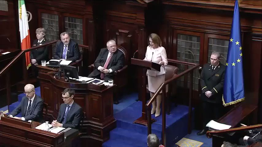 Let me be clear: If anything in the Brexit process threatens the Good Friday Agreement there will be no UK-US trade deal. -NP #Dail100
