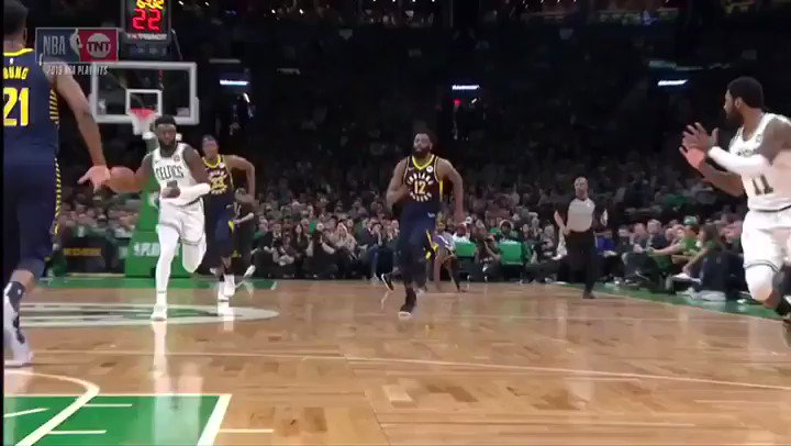 #KyrieIrving with the CRAZY save and assist!