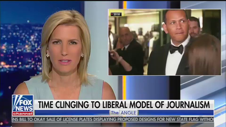 The top story on Fox's 10 o'clock hour is Laura Ingraham raging about @chrissyteigen being named to Times top 100 most influential list. Laura is mad that Mrs. Tiegen said a naughty word