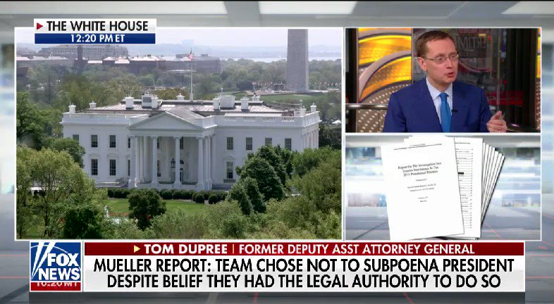 LISTEN: @HARRISFAULKNER spoke with former Deputy Assistant Attorney General Tom Dupree after the release of the redacted Mueller report #nine2noon