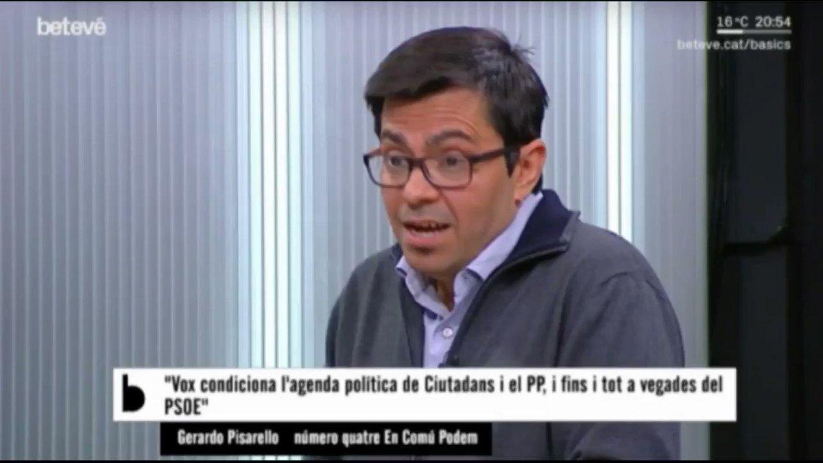 📽️El neoliberalisme és el caldo de cultiu de l'extrema dreta. Per això un govern del PSOE amb C's suposaria una veritable amenaça.   @G_Pisarello a @beteve