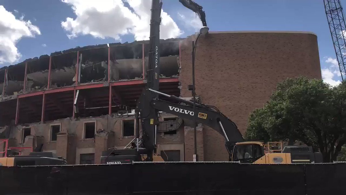 After 63 years, she's coming down. #Lubbock #kamc #klbk