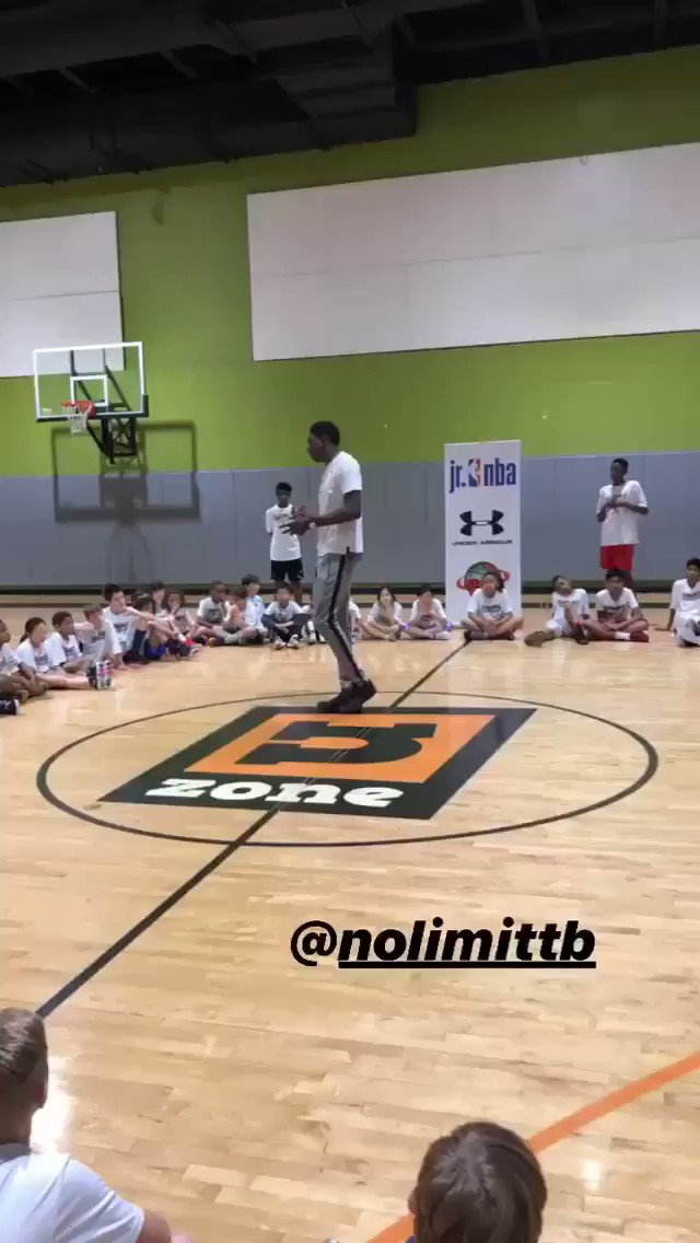 """#Wizards' Thomas Bryant (@nolimittb31) stresses importance of learning & hardwork at a Jr. NBA event 👏  """"I learned as much as I can from my coaches, from my teammates, from @RealDealBeal23 to @JohnWall ... My dedication to just always work as hard as I could each and every day."""""""