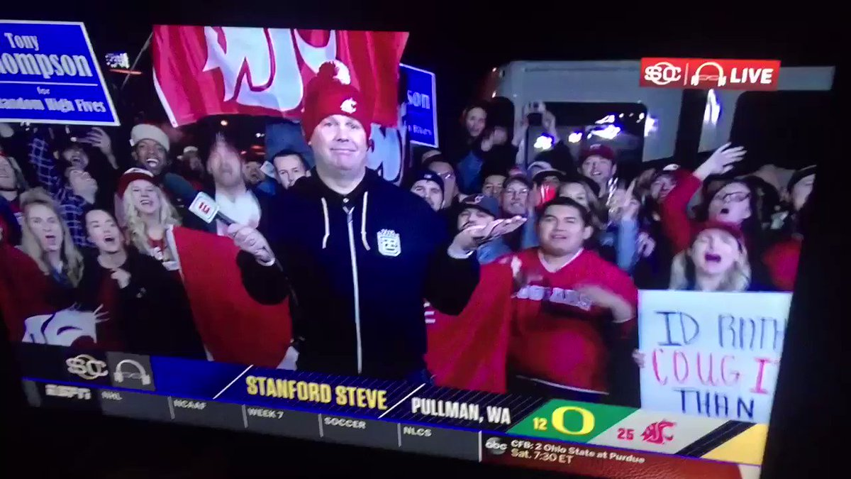 It's #NationalHighFiveDay. You KNOW I'm a fan of this holiday....and of @StanfordSteve82's #tbt #GoCougs