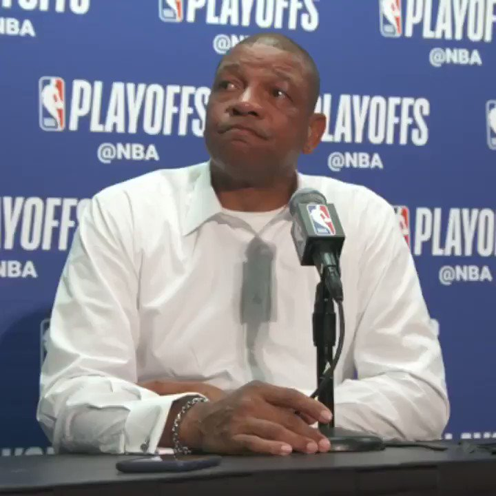 "Doc Rivers' response to KD's ""I'm Kevin Durant"" comment: ""He's right. But I already knew that. I already knew who Kevin Durant was. And I see Pat every day so I'm *positive* I know who he is."""