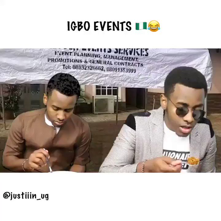 This is exactly how Igbo Events Happen 🤣😭 💪