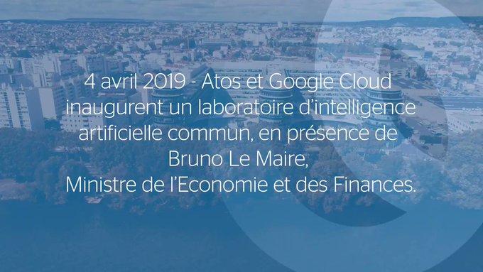 Retour en vidéo sur l'inauguration du lab #IA d'#Atos et @GoogleCloud_FR le 4 avril...