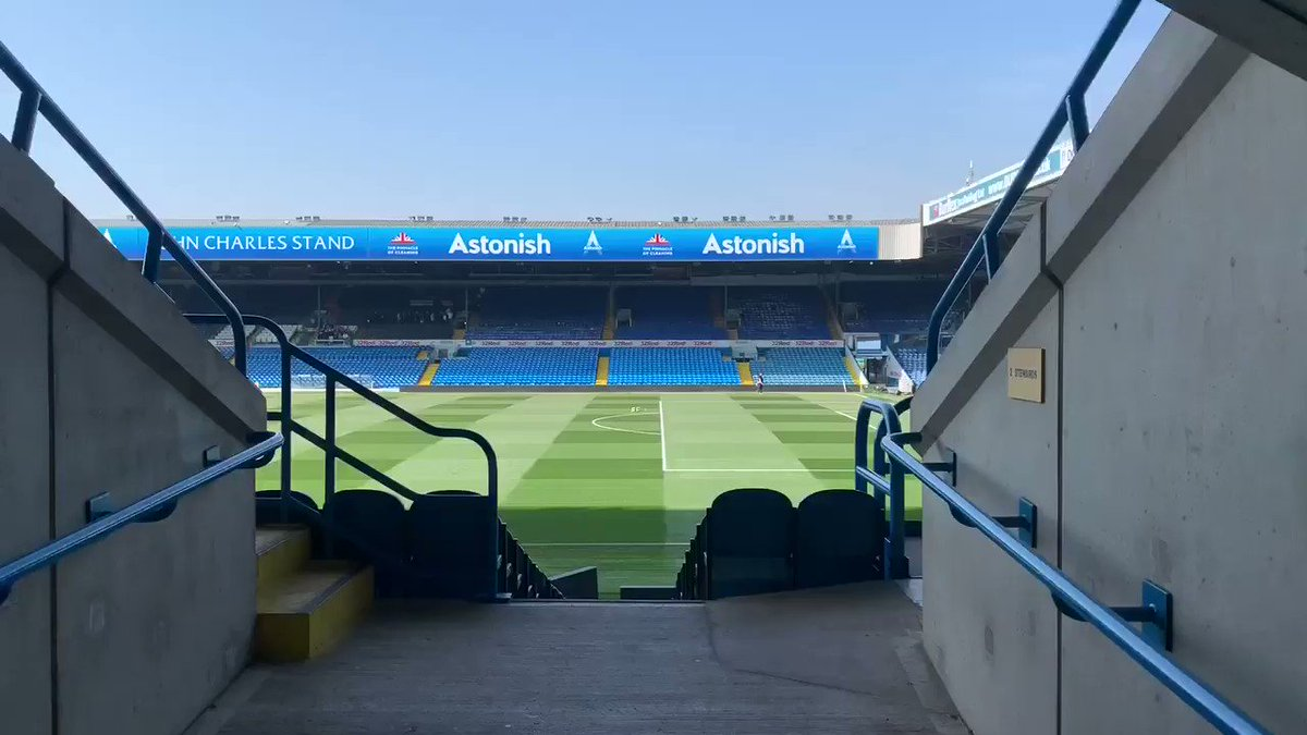 🙌 Elland Road is ready! Where are you watching today's game from? ______