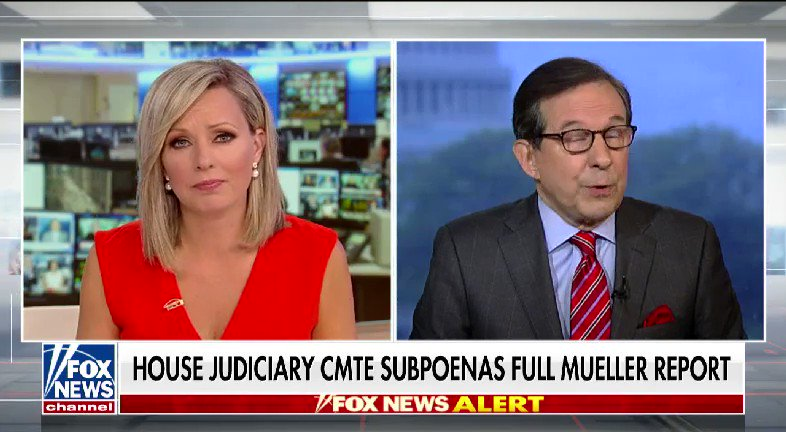 WATCH: @SandraSmithFox spoke with @FoxNewsSunday's Chris Wallace after the House Judiciary Committee subpoenas the full Mueller report #nine2noon