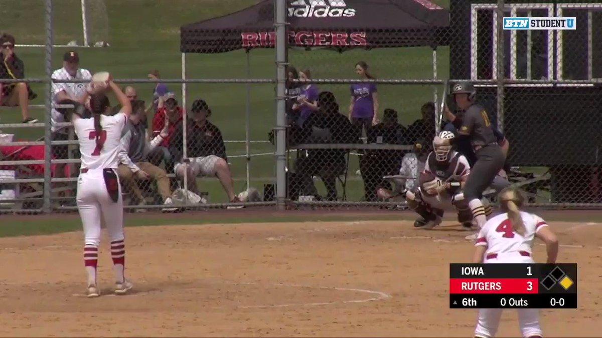 "Katie Wingert putting the ""catch"" in ""catcher"" 😏  #NCAASoftball #SCtop10  (via @RUSoftball)"