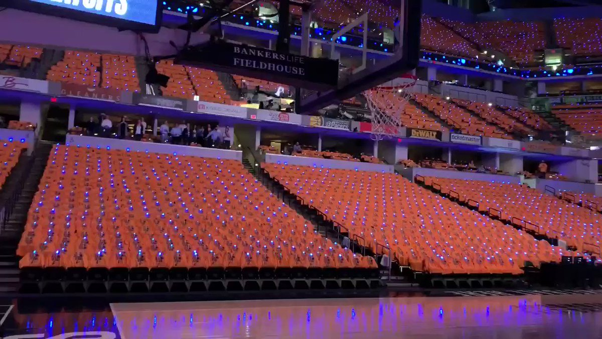#Pacers are ready to go! GOLD OUT and fans will be glowing at tonight's game! LIVE report at 5pm @WISH_TV #NBAPlayoffs