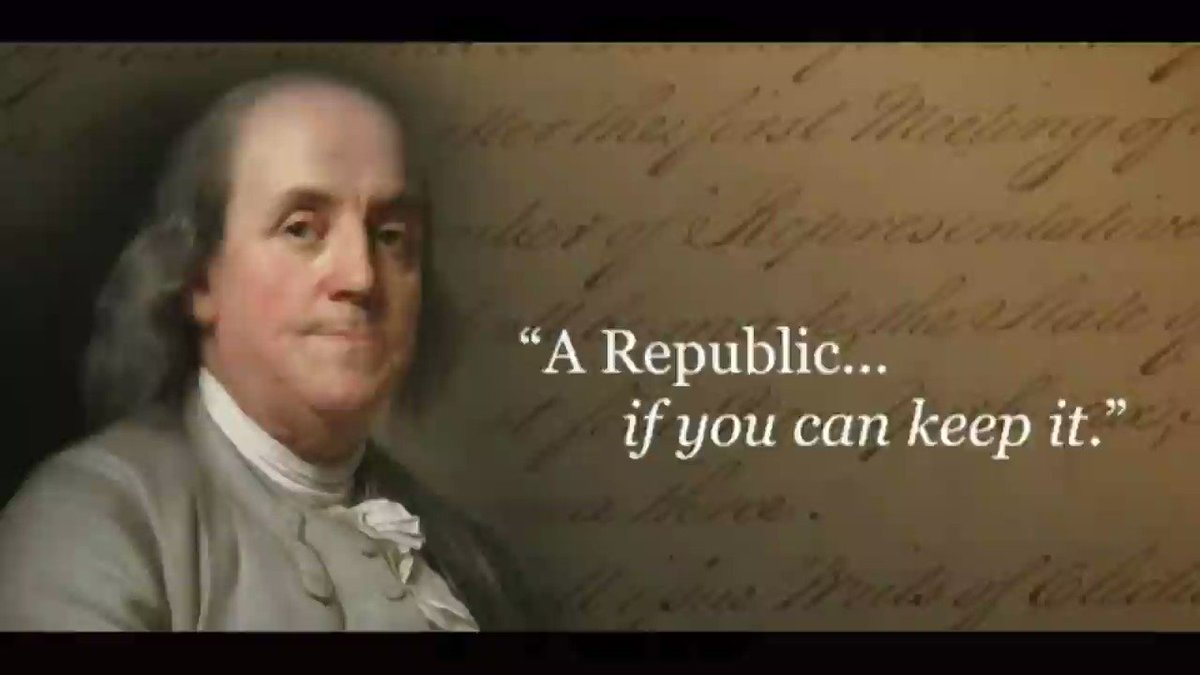 """NOT SURE IF """"A REPUBLIC, IF YOU CAN KEEP IT.""""  #NotSureIf #DefendTheConstitution #MakeAmericaGreatAgain"""