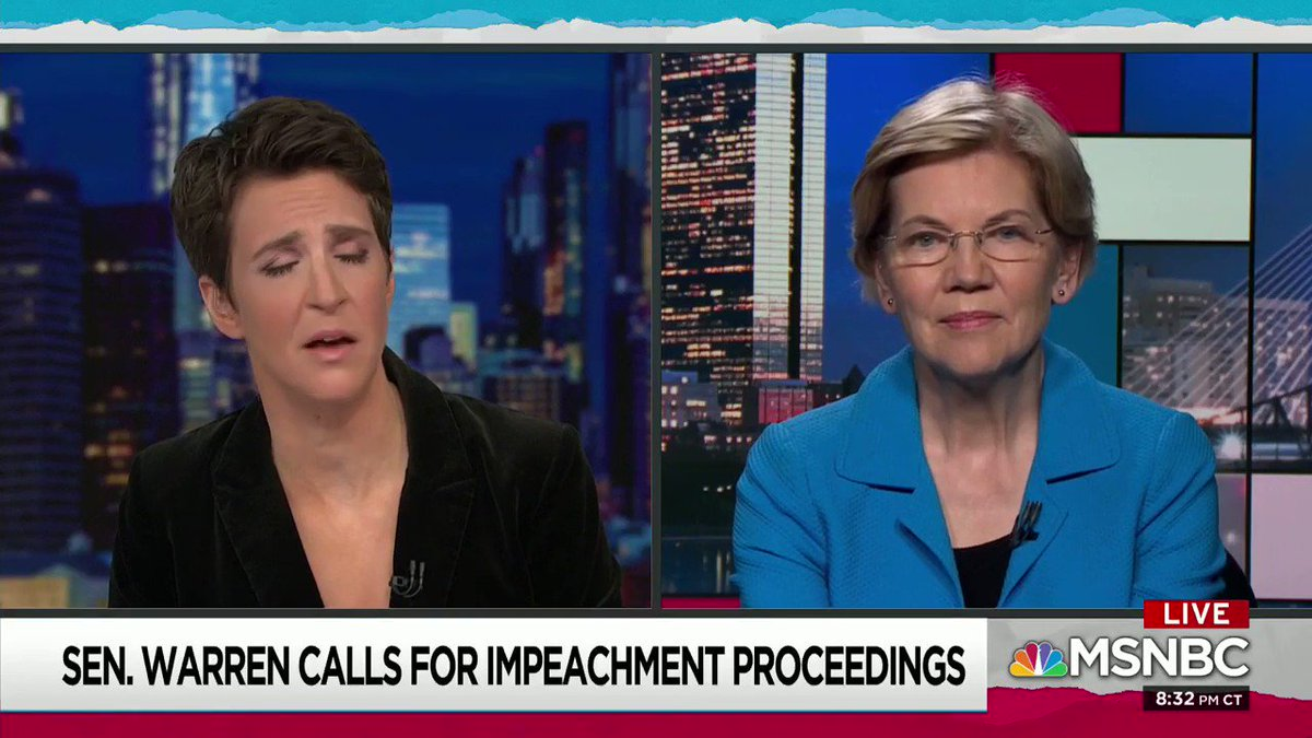 Here is #Pocahontas trying to make a case for impeachment, and as you'd expect from her, it's 1/1024th accurate.   Corruption in the DOJ let to a fake dossier to start a rumor which ended up resulting in the Mueller #WitchHunt  #NoCollusion #Trump2020