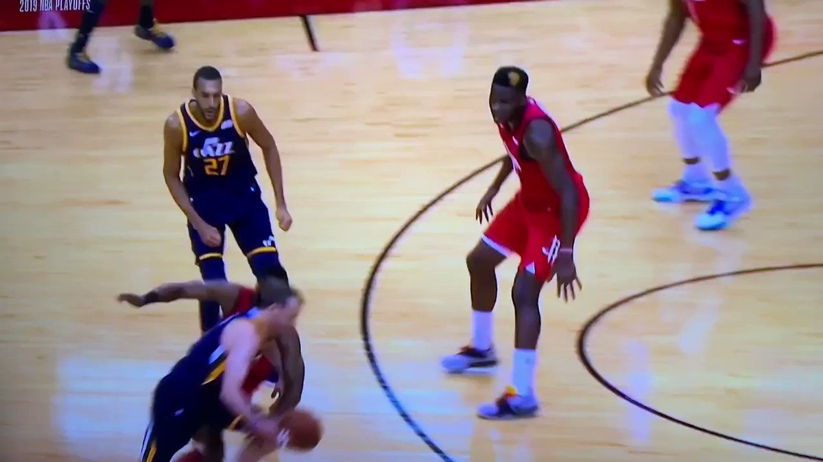 The only explanation for this James Harden flop was that he was punched in the throat by a ghost
