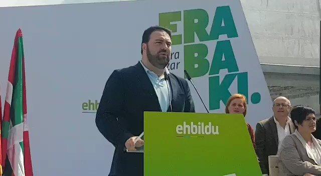 """@JonInarritu: """"si de nuestro voto depende las tres derechonas trogloditas no gobernarán"""".  @ehbildu #ParaAvanzar #Aurrera #AgurTrifachito #28A #Elecciones"""
