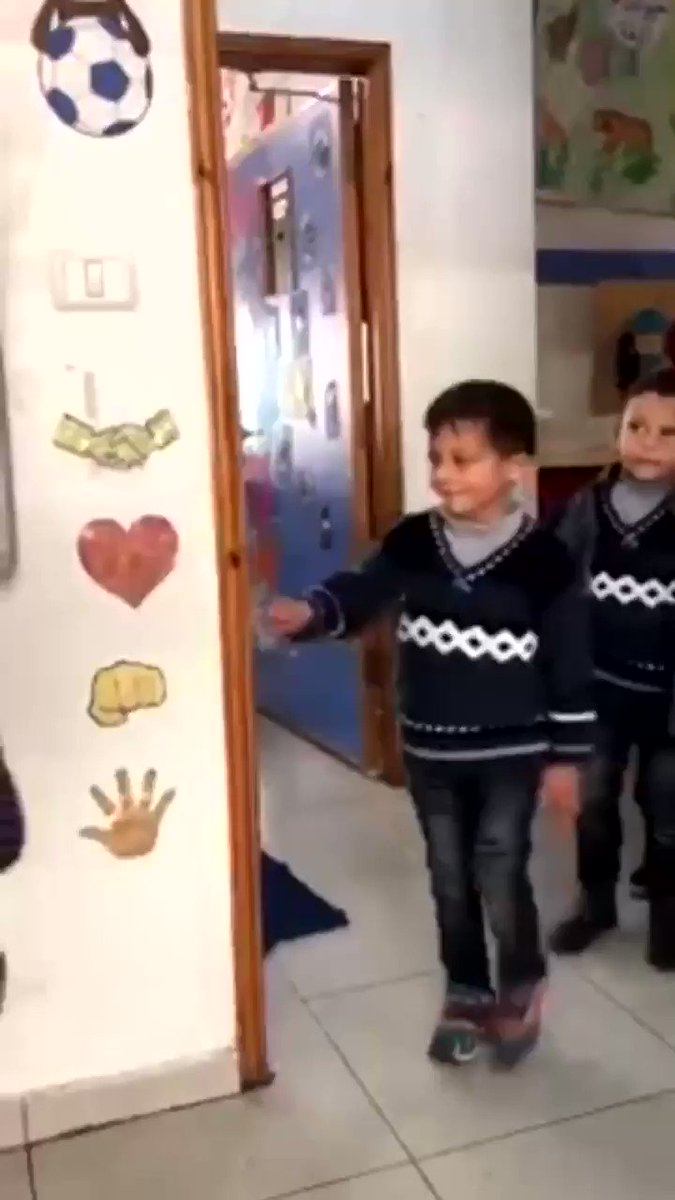 This teacher in Palestine lets the children choose their greeting at the start of the school day. These children live in such dire, oppressive conditions which most of us will thankfully never experience, but their smiling little faces are heart warming.