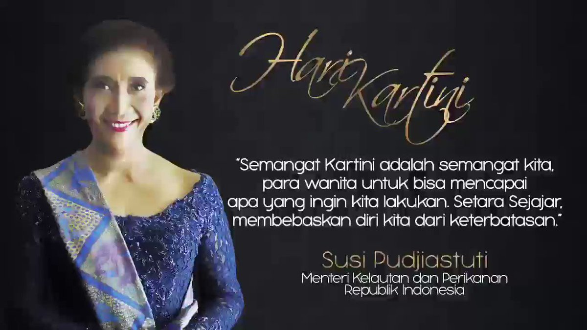 Susi Pudjiastuti's photo on Selamat Hari Kartini