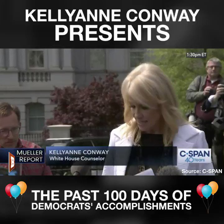 Kellyanne Conway post a list of the democrats accomplishments for their first 100. days in congress  Please rt if you agree with Kelly.. they got nothing done for the American people !