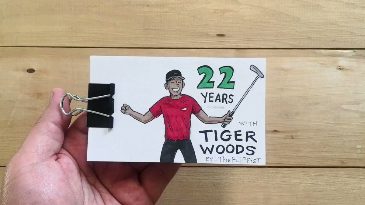 RT @sportingnews: Amazing.  Tiger Woods winning the Masters as a flipbook animation.   https://t.co/rR9dP3xhDh