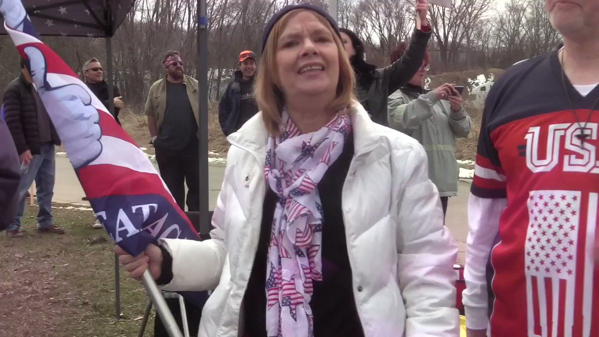 Melody Black at a rally in April 2019 in Minneapolis, MN. SHE HATES MUSLIMS & Somali immigrants. She says Rep Omar @Ilhan was part of Hamas among other crazy things. Arrest these domestic terrorists! 3/3 📽️:@JaredGoyette