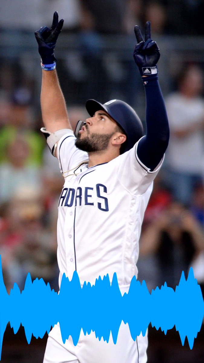 ICYMI: @TheRealHos305 sent one to the beach in the 2nd inning! Here's how it sounded with @TedLeitner on the call!  Tune in now on @973TheFanSD @PadresRadio