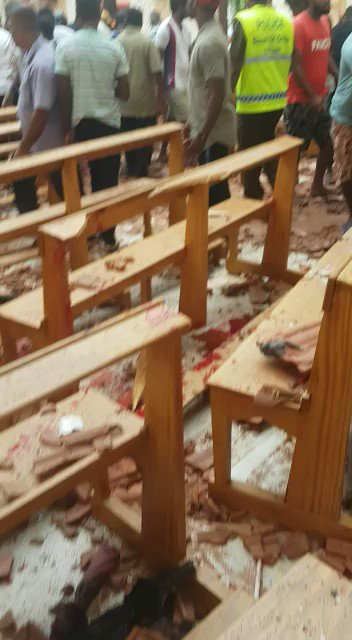 #DEVELOPING on @OANN: Video shows the aftermath of an explosion that hit a church in Sri Lanka during an Easter service.