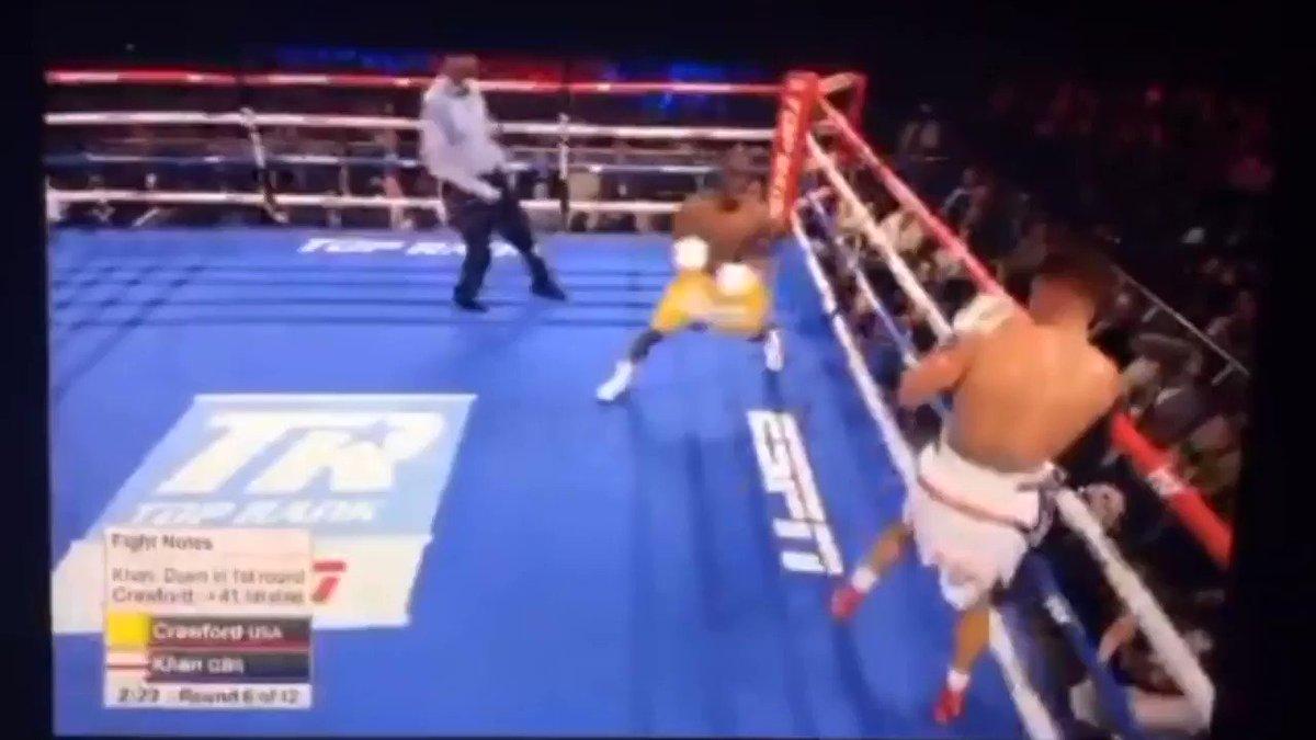 Terence Crawford Scores Bizarre TKO Win Vs. Amir Khan