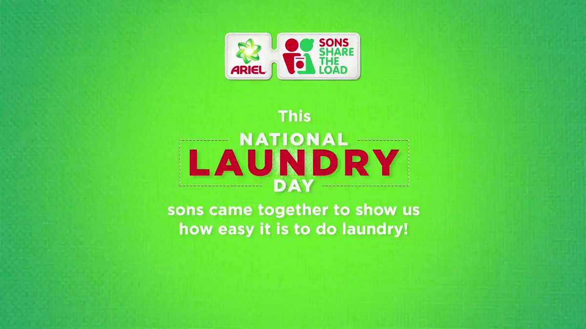 It's time for the first #SONday challenge. Take a picture of you and your son/mom doing the laundry and share it with us. Lucky winners can win a #ShareTheLoad hamper!