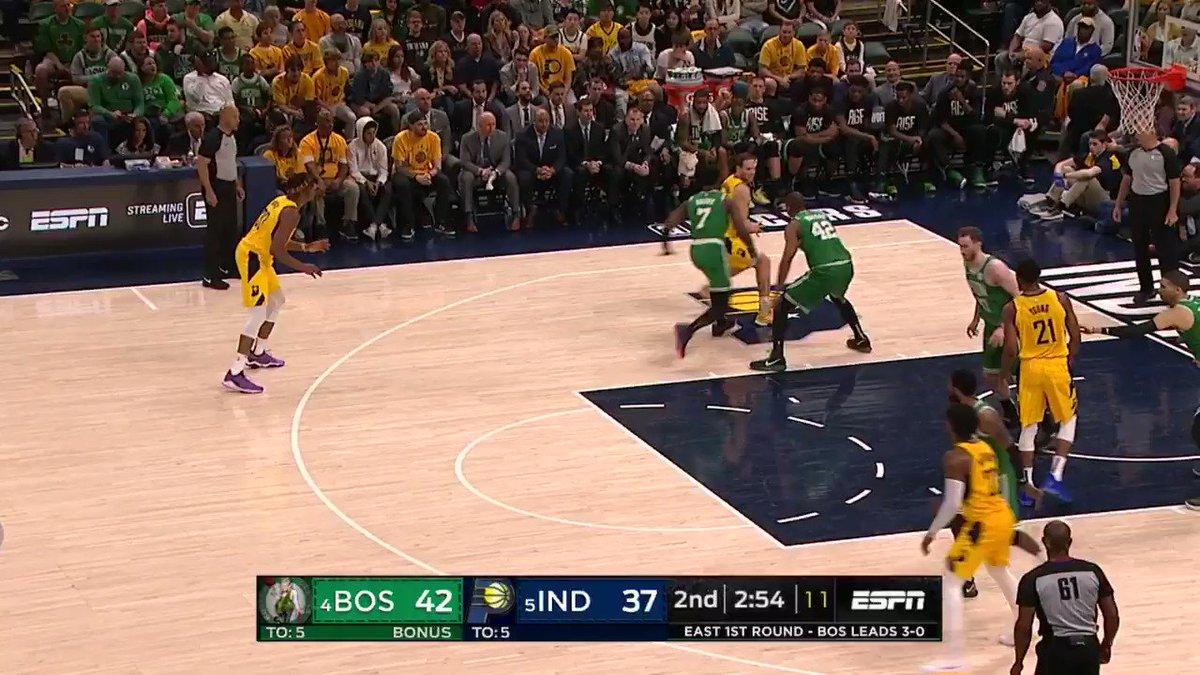 Myles Turner UNLEASHED on Gordon Hayward 😳  (via @NBA)