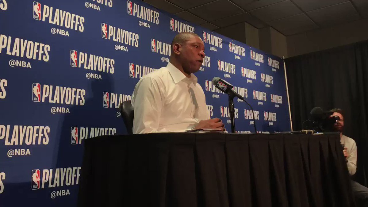 """Doc Rivers recalls Game 4 of 2014 amid Donald Sterling drama - """"I don't remember the game, that's the problem. It was just a long day. An hour before the game, I'm on the phone with ownership having the most heated argument you could possibly have.""""  #Clippers #Warriors"""