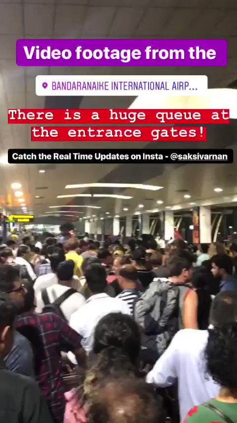 Video footage from the BIA! There is a huge queue at the entrance gates! #lka #srilanka #colombo #news #sl