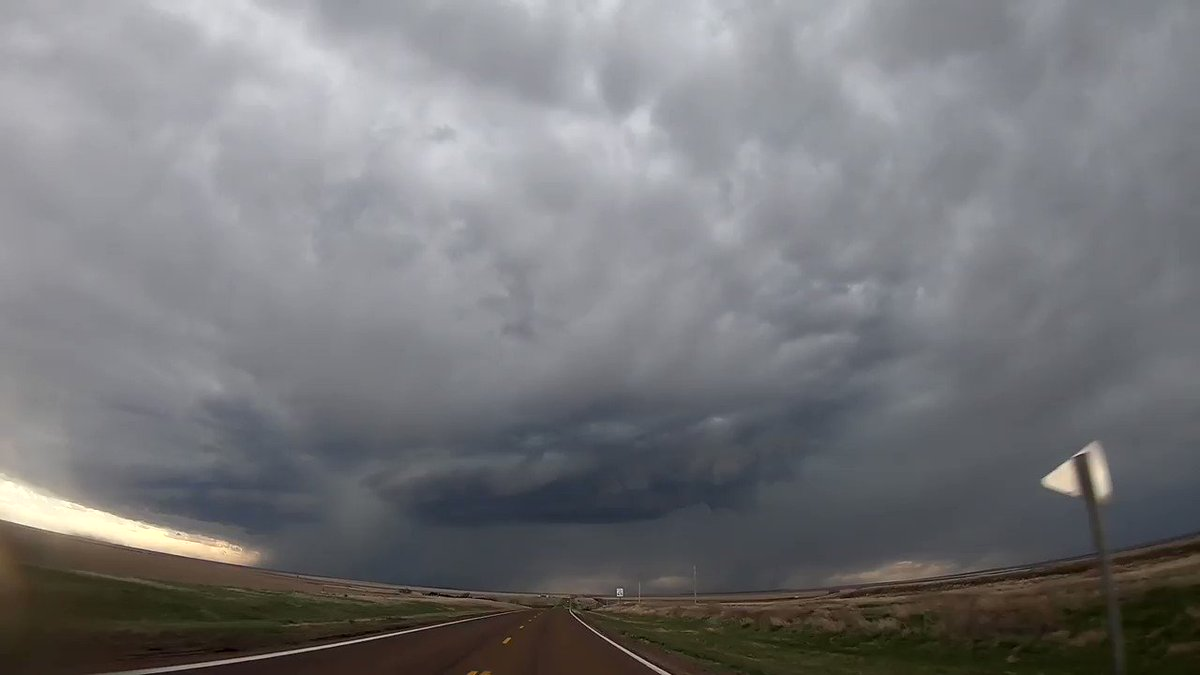 Image for the Tweet beginning: GoPro time-lapse of severe storm