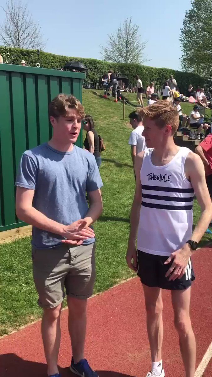 Quick interview with @TomBosworth today at the Tonbridge open meet. Great to see pros supporting grass roots sport. Thread to follow #Athletics #racewalking