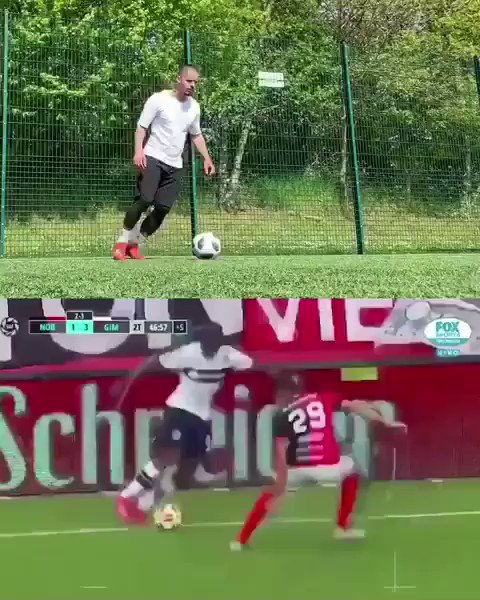 This skill is trending on Twitter today so quickly popped over to the pitch to try to recreate it 😂⚽️❤️