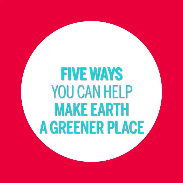 Does #EarthDay have you inspired to make a difference? Not sure where to start? Make our planet a greener place by following these five simple tips. 🌿🌎