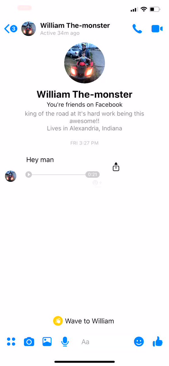 I got a friend request on FB from a guy I worked with 4 years ago so i was like yeah I'll accept it. Next thing you know he sends me this lmao