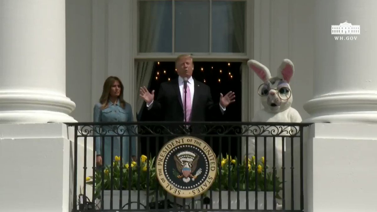 President @realDonaldTrump  and @FLOTUS officially welcomed everyone to the 2019 Easter Egg Roll earlier today!