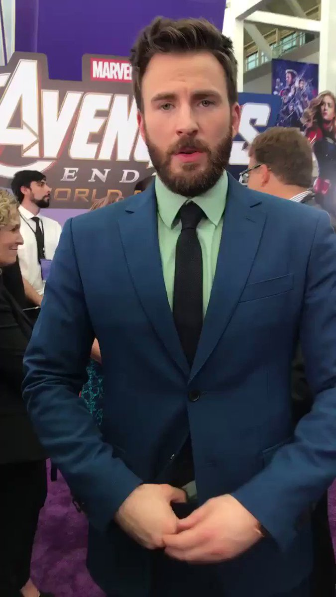 We salute you, @ChrisEvans! #CaptainAmerica #AvengersEndgame
