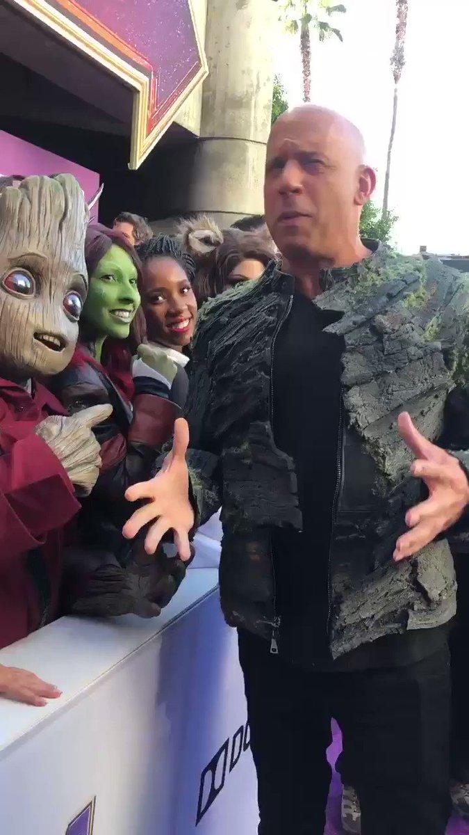 .@vindiesel. Is. Groot. #Groot #AvengersEndgame