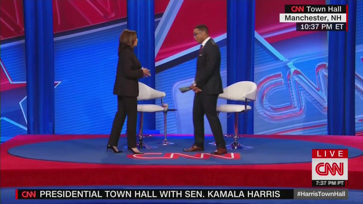 Democrat Kamala Harris refuses to rule out letting convicted terrorists vote in U.S. elections while they are in prison.  Even CNN's Don Lemon seems shocked by Harris' remarks.