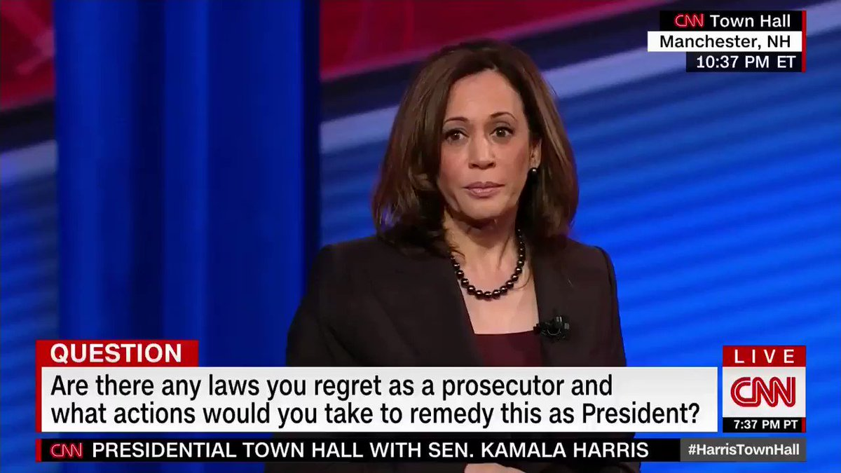 "Kamala Harris: ""We should have that conversation"" about allowing the Boston Marathon bomber to vote from prison."