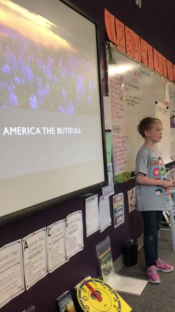 He is new to my class. We were learning about people famous to our city and their contributions. He got up and sang a song in front of the whole class. Everyone cheered afterwards. @TrailblazerD11 #BuildClassCulture #ownyourlearning #StudentVoice