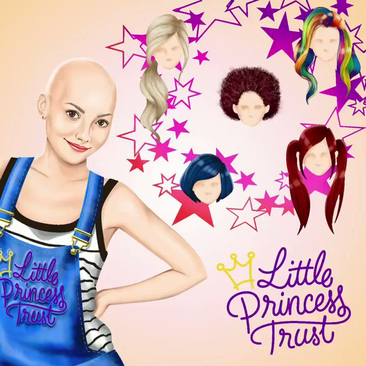 The @LPTrustUK work to provide free real hair wigs to children and young people who have lost their own hair - you can see more about everyday hero hair donations via http://bit.ly/LittlePrincessTrustCT… Don't forget to enter the #LPTxCT challenge and share your colorings!